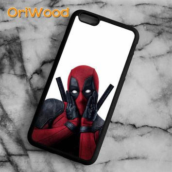 OriWood Super Cool Marvel Hero Deadpool  Case cover For iPhone 6 6S 7 8 Plus X 5 5S SE Samsung galaxy S6 S7 edge S8 Plus Note 8