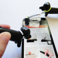 SALE 20-80%: Stylus,Charm and Dust Plug 3 in 1 Cute Black Puppy / Dog stylus for iPad. iPhone. Samsung. HTC.