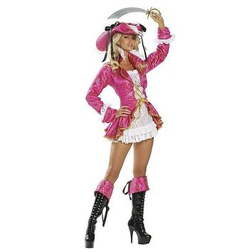 MOONIGHT Pink Pirate Costumes Adult For Girls Sexy Masquerade Dress Game Anime Cosplay Costume For Women With Hat Macchar Cosplay Catalogue