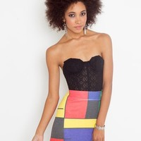 Faded Colorblock Skirt in Sale Bottoms at Nasty Gal