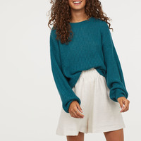 Loose-knit Sweater - Teal - Ladies | H&M US
