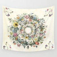 Circle of Life Cream Wall Tapestry by anipani