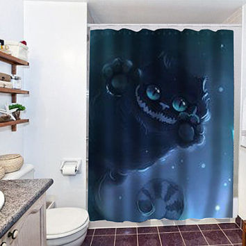 cheshire cat special custom shower curtain