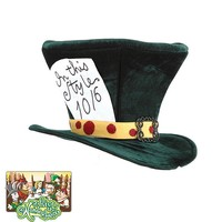 Disney Alice in Wonderland Mad Hatter Classic Costume Hat - Adult (Green)