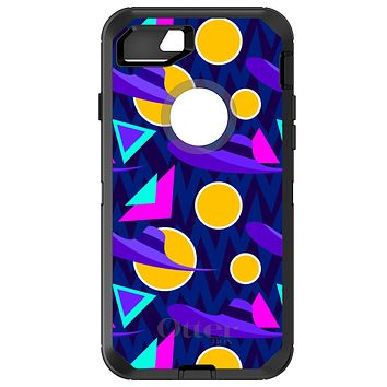 DistinctInk™ OtterBox Defender Series Case for Apple iPhone or Samsung Galaxy - Pink Purple Yellow 90s Pattern