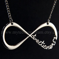 "One Direction Necklace, ""Directioner"" Infinity Necklace"