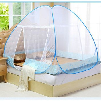 New Mongolian Yurt Style Bed Curtain Net Mesh Mosquito Net for Single Double Bed Netting Tent Household Bed Net D9440