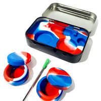 Tin Case Silicone Container w/ Tool