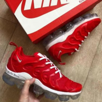 Red Nike Air Vapormax Plus Running Sports Shoes Sneakers