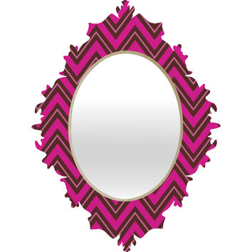 Caroline Okun Chocolate Chevron Baroque Mirror