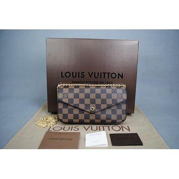 Louis Vuitton Damier Felicie Ladies Wallet Bag Damentasche Pre-Owned Like New Free DHL