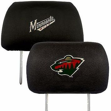 Minnesota Wild 2-Pack Auto Car Truck Embroidered Headrest Covers