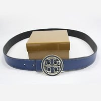TORY BURCH Woman Fashion Smooth Buckle Belt Leather Belt-3