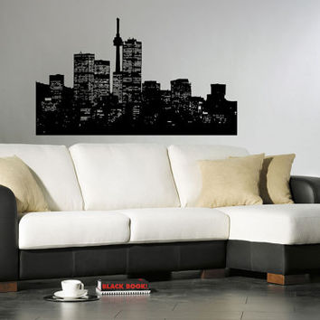 Seattle Skyline City Sights Wall Sticker Decal 2421