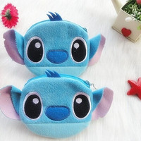 Kawaii Lilo Stitch Plush Coin Purse , Kid's Gift keychain 10CM Coin Bag Wallet Pouch , with 20cm Plush Coin Case BAG Pouch