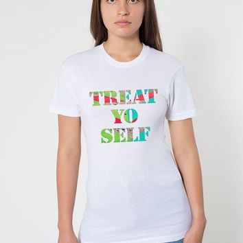 Funny T Shirt - FREE shipping to USA american apparel polyester plain white tee shirts unisex size typography treat yo self sublimation cute