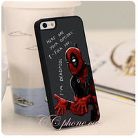 Funny Deadpool Bits Black Hard Skin mobile phone Cases Cover housing For iPhone 4S 5S 5C 6 6PLUS