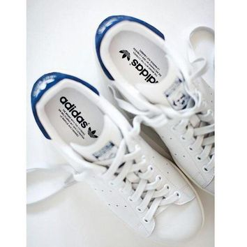 DCCKIJG Unisex Men & Women Casual Sport Print Adidas Stan Smith Shoe Navy blue