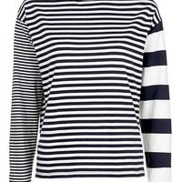 Mixed Stripe Long Sleeve Top - Clothing