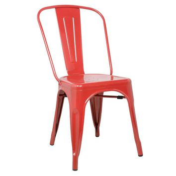 Tolix Style Chair, Red