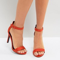 New Look Satin Heeled Sandal at asos.com