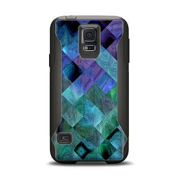 The Multicolored Tile-Swirled Pattern Samsung Galaxy S5 Otterbox Commuter Case Skin Set