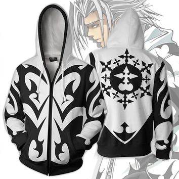 Cool Kingdom Hearts Costume Men Women Sweatshirt Xemnas Cosplay Anime Autumn Spring Sweatshirt Zipper Cartoon Hooded sweater JacketsAT_93_12