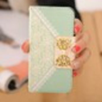 Ulamore Fashion Fresh Cute Flip Wallet Leather Case