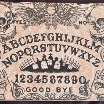 Ouija Board printed on Aluminum