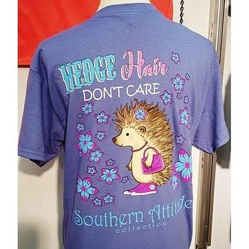 Country Life Southern Attitude Hedge Hair Hedgehog T-Shirt