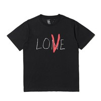 Vlone life LOVE letter printing cotton round neck short-sleeved T-shirt men and women lovers