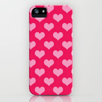Pink Hearts iPhone & iPod Case by Colorful Art