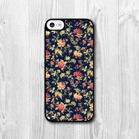Noble Flower iPhone 5c case, Floral iPhone 5c hard case, Vintage cover skin case for iphone 5c cases (Hard Case / Rubber Case)