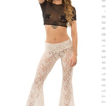Disco Bells in White Lace