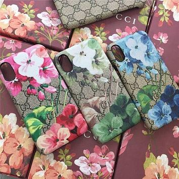 GUCCI Fashion Print iPhone Phone Cover Case For iPhone X F