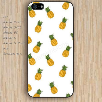 iPhone 5s 6 case colorful Cartoon fruit of pineapple phone case iphone case,ipod case,samsung galaxy case available plastic rubber case waterproof B235