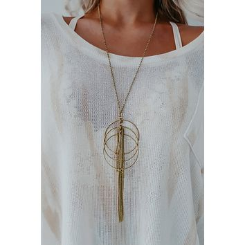 Don't You Know Necklace: Gold