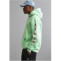 Champion Joint sugarcoat cannonball long sleeve multi-label printed hoodie Green
