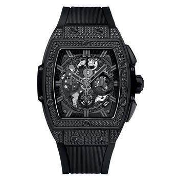 Hublot Spirit Of Big Bang All Black Pave 42 mm - Unworn with Box and Papers
