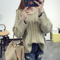 Sexy Petite Loose Style Warm Knit Oversized