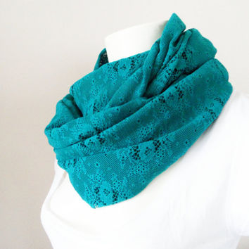 infinity scarf, scarf, Neck warmer, lace scarf, Trendy scarf, Fashion Scarf
