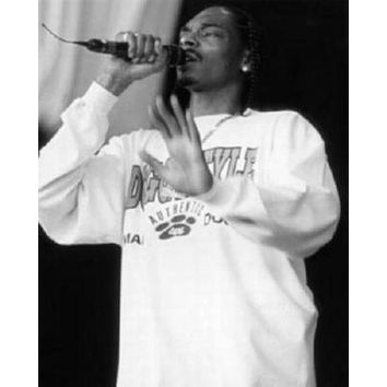 Snoop Dog poster Metal Sign Wall Art 8in x 12in Black and White
