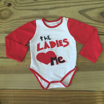 """The Ladies Love Me"" Boy's Bodysuit"
