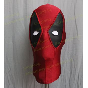 Marvel Deadpool Superhero Halloween Costume Cosplay Spandex Mask  2017 Adult