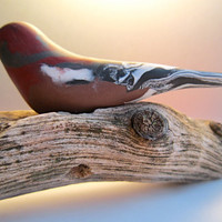 Bird Finch Penkava Pinson handmade sculpture decoration OOAK polymer clay
