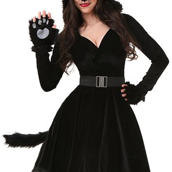 Atomic Black Unlucky Cat Costume