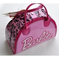 Markwins Barbie Fab Fashion Case - 2010 Version - Includes: (6) Eyeshadows, (2) Lip Glosses, (2) Lip Sticks, (4) Nail Polishes, (2) Glitter Powders, Body Mist