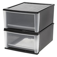 IRIS® 32 qt. Stacking Drawers (Set of 2)