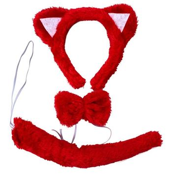 Red Cat,Animal Show/Performing Props/Ear,Tail,Tie