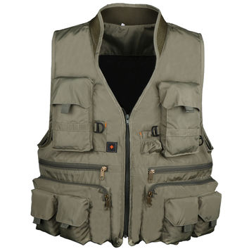 Cotton Fly Fishing Vest With Meshing Lining For Angler